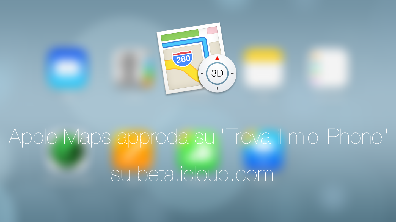 Apple maps beta icloud