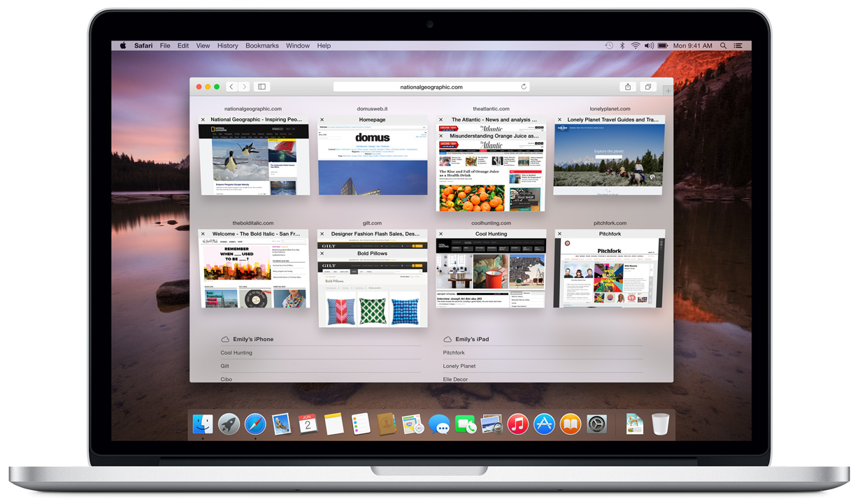 MacBook Pro safari