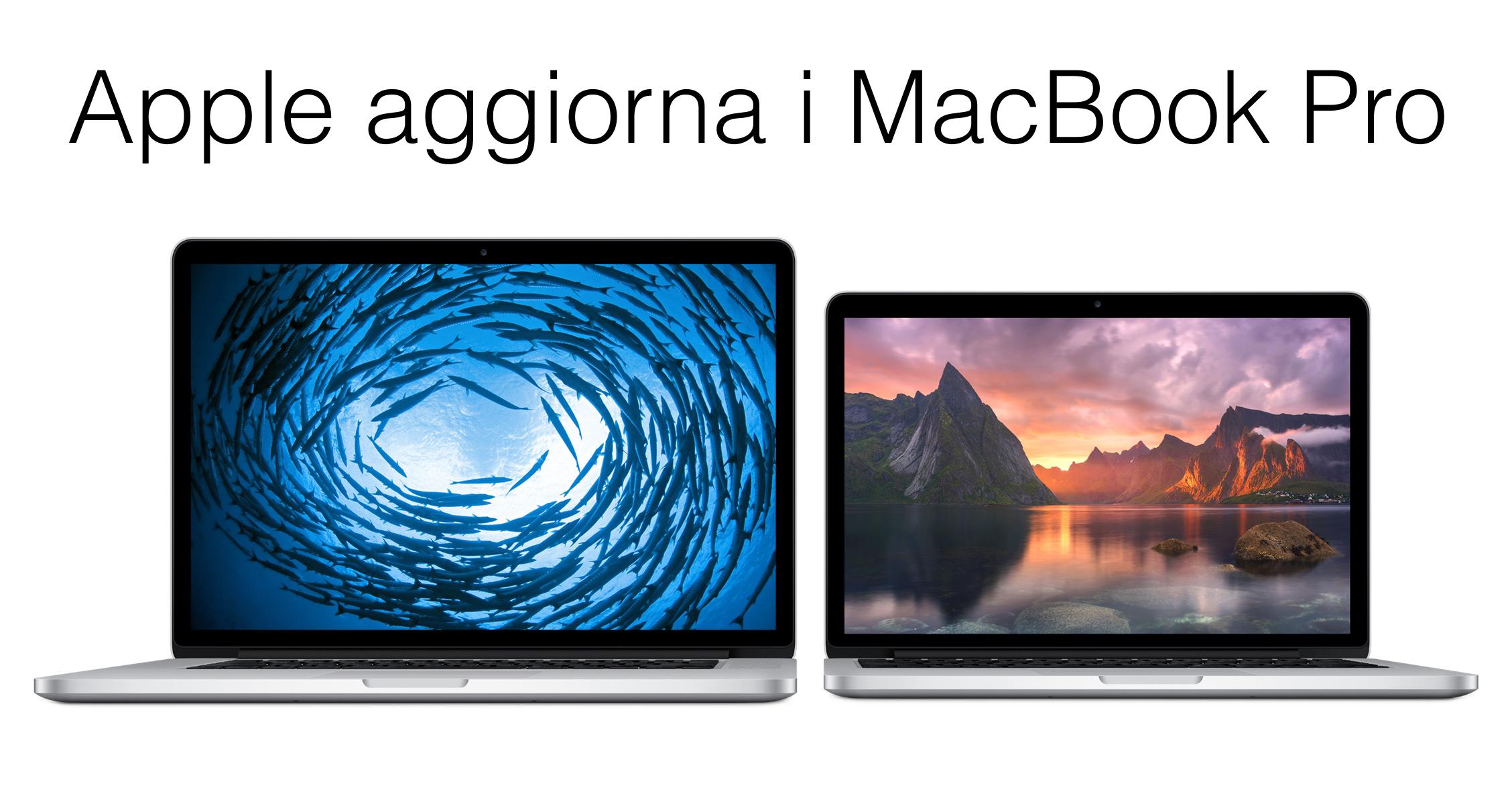 MacBook aggiornati